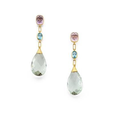 Lot 117 - A pair of gem-set earrings