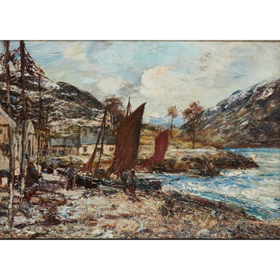 Lot 61 - JAMES KAY R.S.A., R.S.W. (SCOTTISH 1858-1942)
