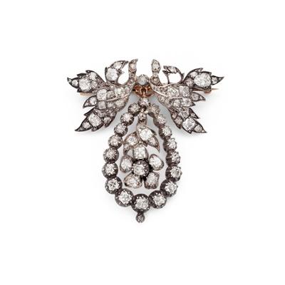 Lot 5 - A late 19th century diamond brooch