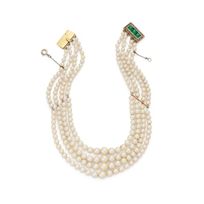 Lot 21 - An early 20th century cultured pearl choker
