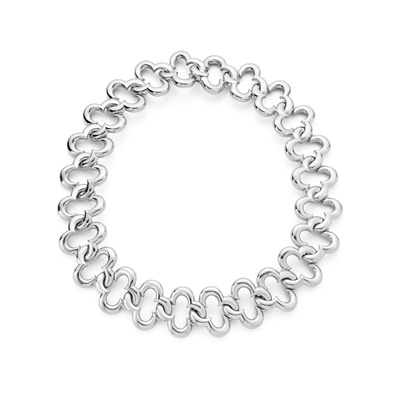 Lot 35 - An 'Alhambra' fancy-link necklace, by Van Cleef & Arpels