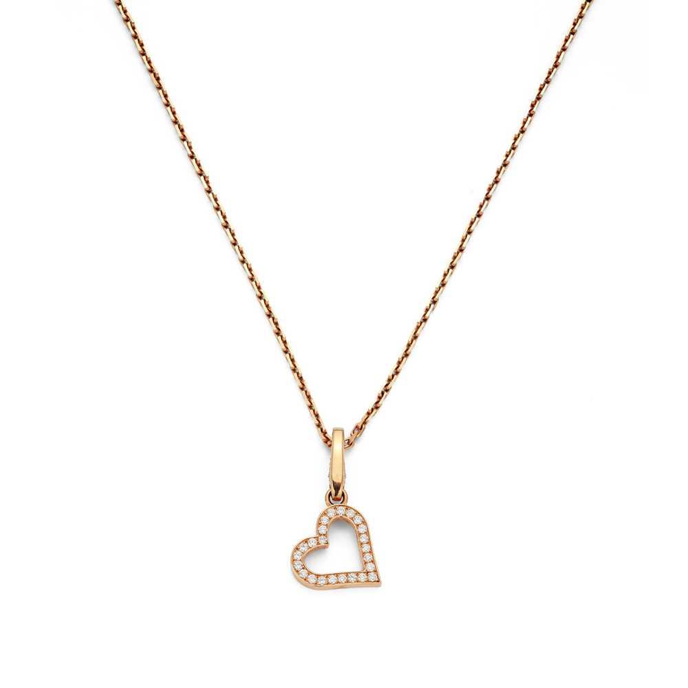 Lot 110 - A diamond-set pendant necklace, by Cartier