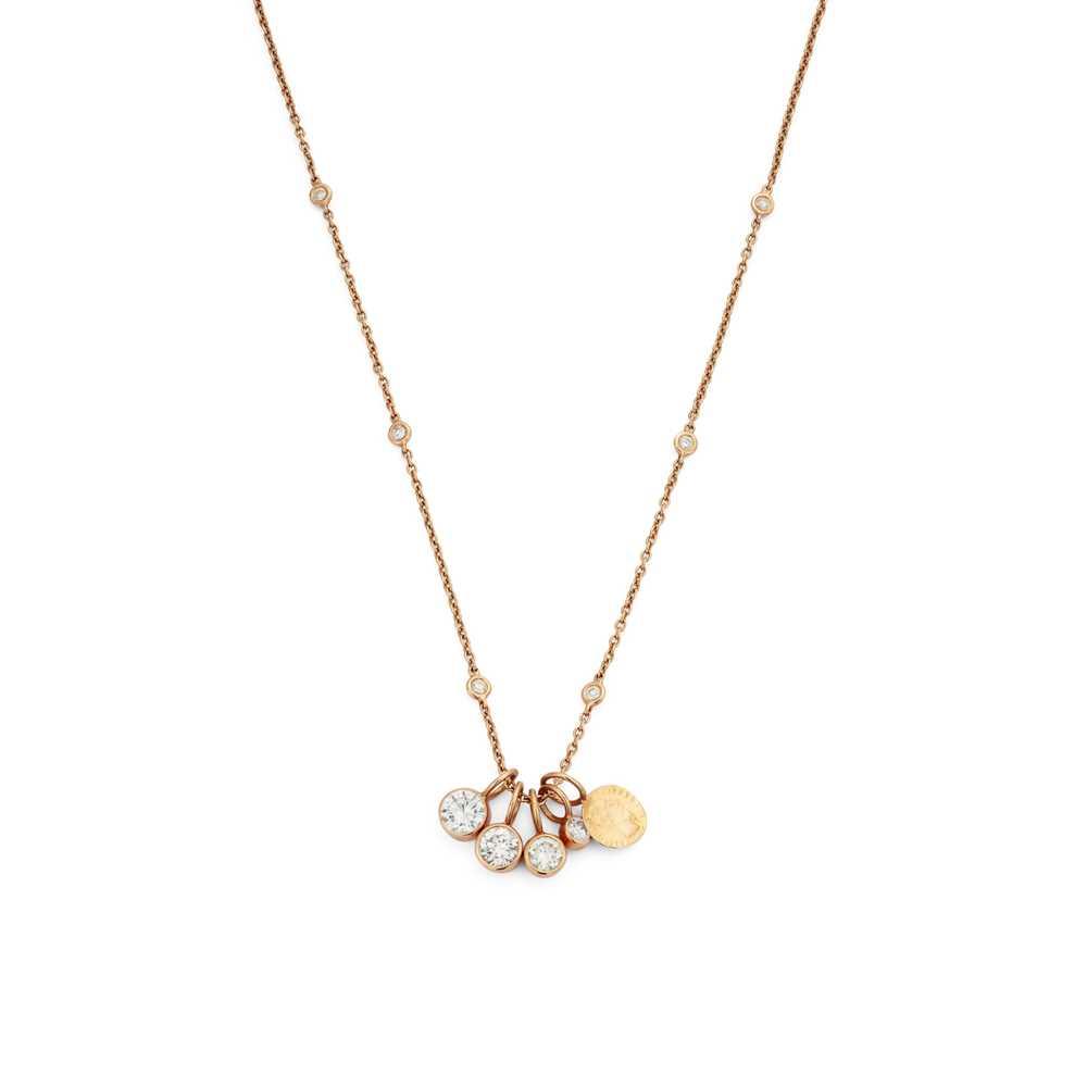 Lot 108 - A diamond pendant necklace
