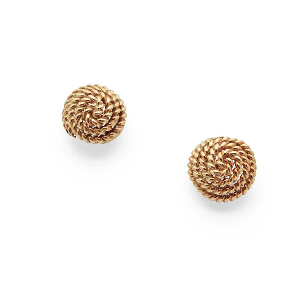 Lot 58 - A pair of earrings, by Tiffany & Co.