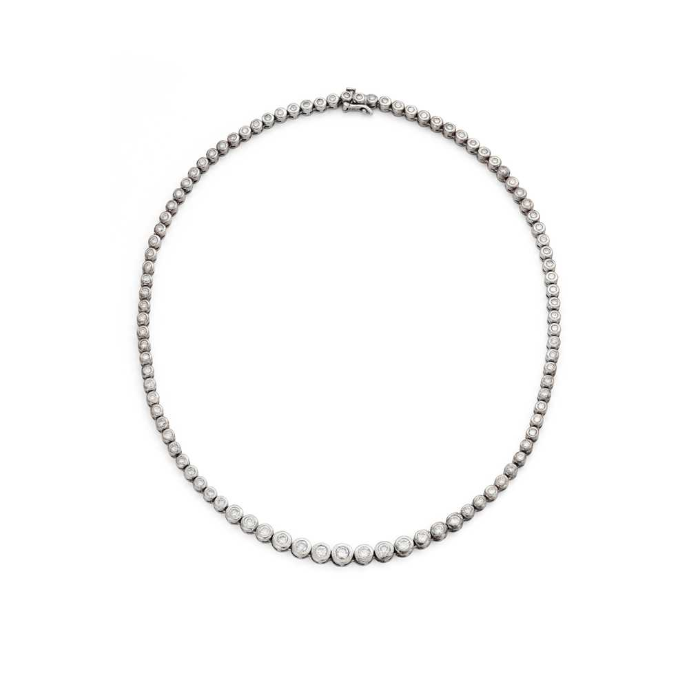 Lot 84 - A diamond riviere necklace