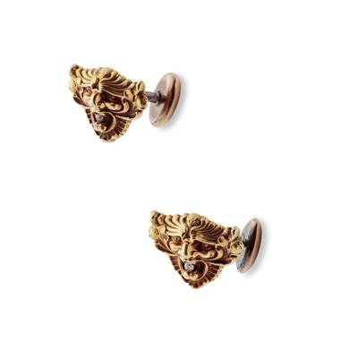 Lot 20 - A pair of Art Nouveau diamond-set cufflinks