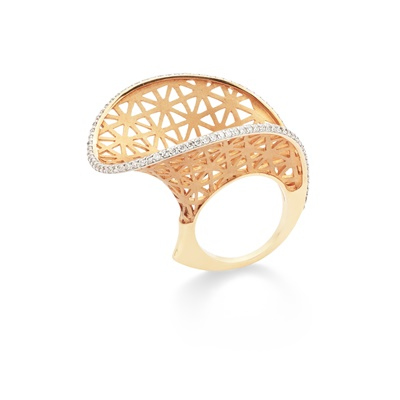 Lot 113 - A diamond-set 'Line' ring, by Armaggan