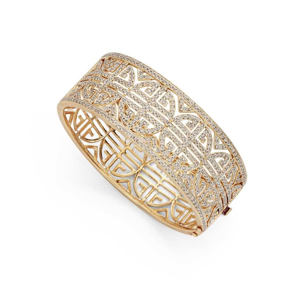 Lot 42 - A diamond-set bangle