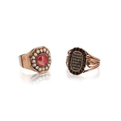 Lot 18 - Two mourning rings