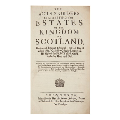 Lot 57 - Scotland - Laws and Acts