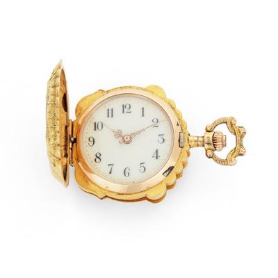 Lot 17 - An Art Nouveau enamel pocket watch, circa 1900