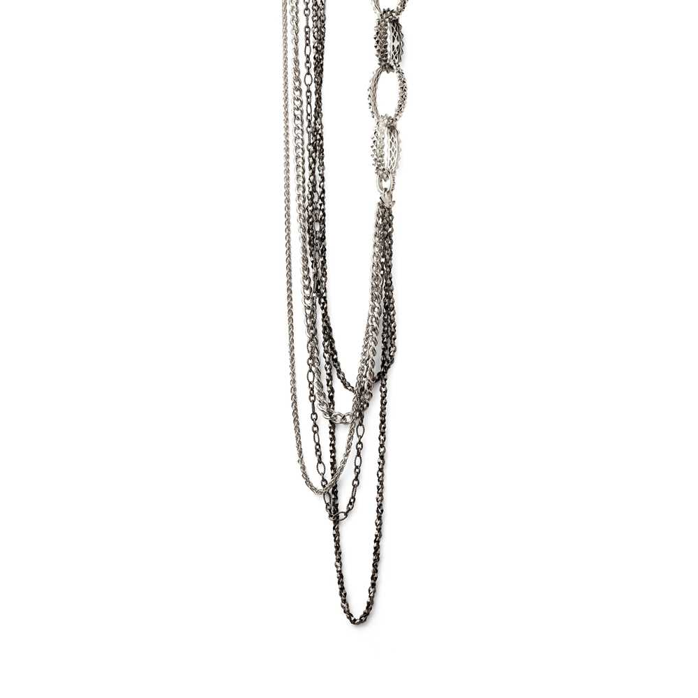 Lot 45 - A silver 'Superstud' necklace, by Stephen Webster