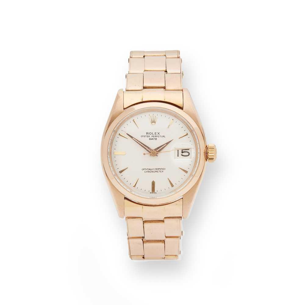 Lot 132 - Rolex: a gentleman's gold wrist watch