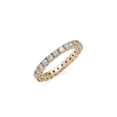 Lot 58 - A diamond set eternity ring