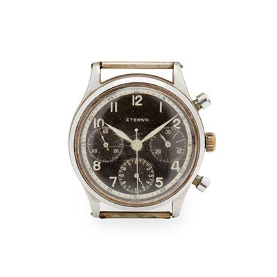 Lot 145 - Eterna: a gentleman's military-style watch