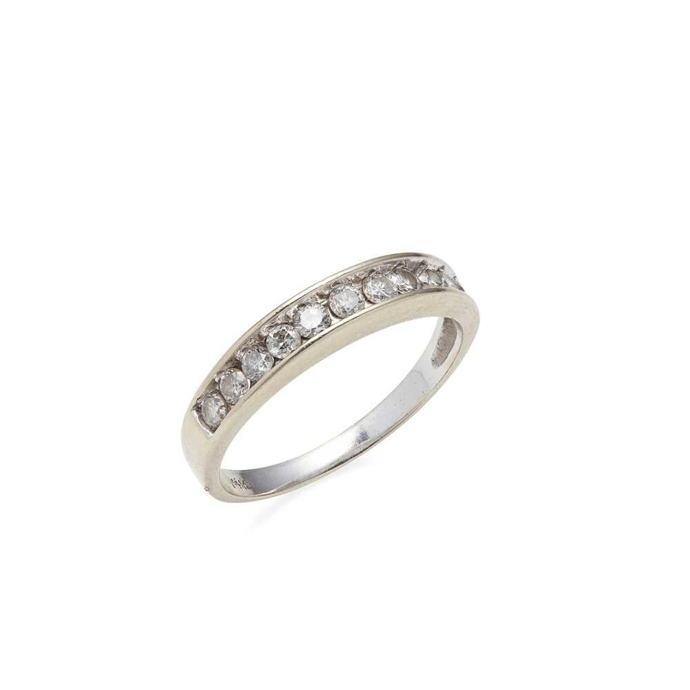 Lot 90 - A diamond half eternity ring