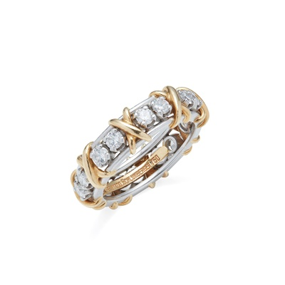 Lot 57 - A diamond set eternity ring, Jean Schlumberger for Tiffany & Co