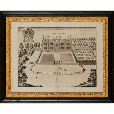 Lot 15 - EIGHT ENGRAVINGS OF BIRDS EYE VIEWS OF COUNTRY HOUSES, FROM HENRY CHAUNCY'S  'THE HISTORICAL ANTIQUITIES OF HERTFORDSHIRE'