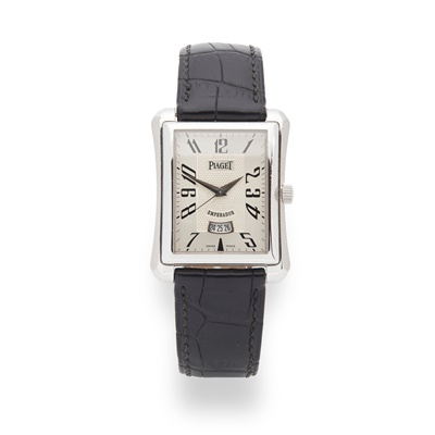 Lot 128 - Piaget: a gentleman's white gold watch