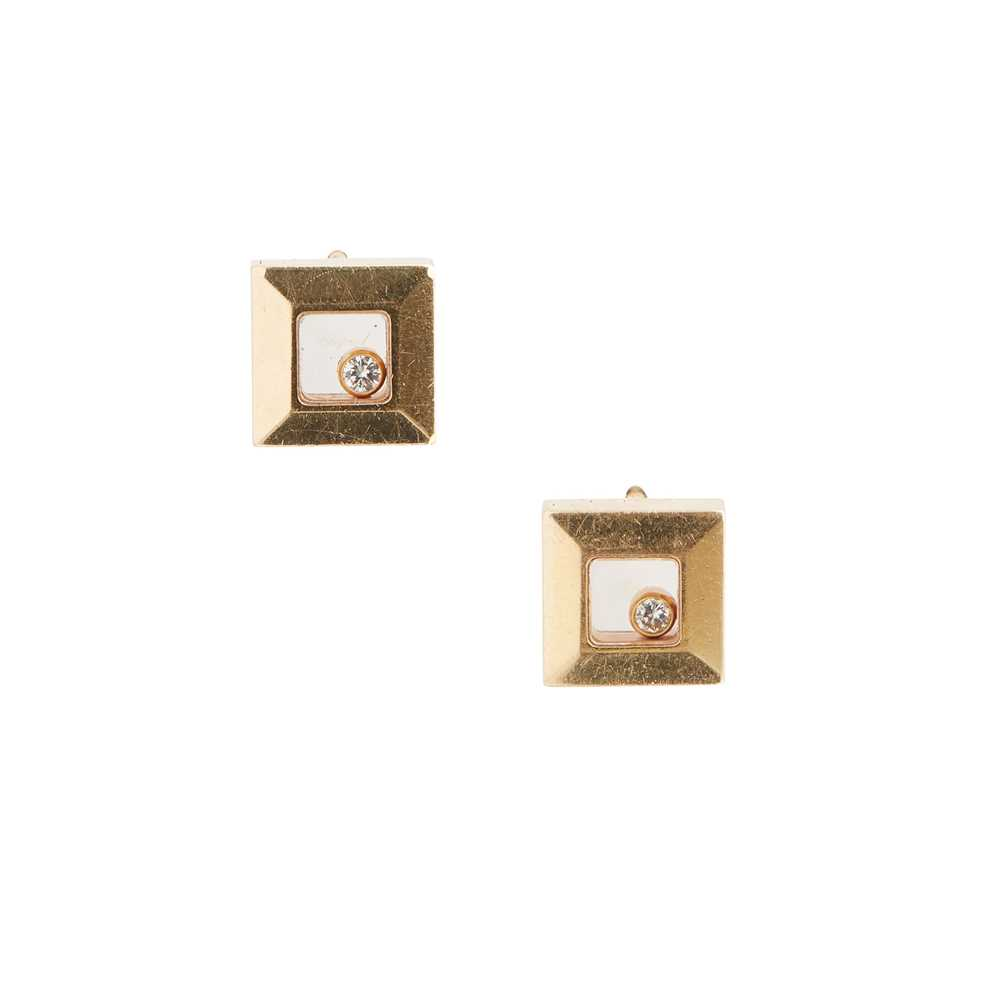 Lot 35 - A pair of 'Happy Diamond' earrings, by Chopard