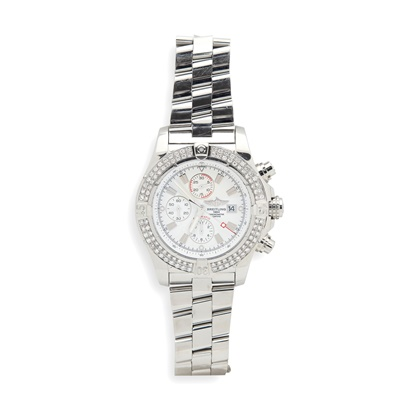 Lot 147 - Breitling: a gentleman's stainless steel watch