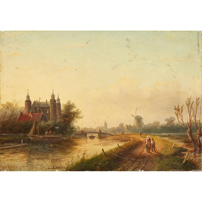 Lot 105 - JAN JACOB COENRAAD SPOHLER (DUTCH 1837-1923)