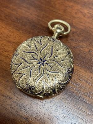 Lot 148 - Tiffany: A gold pocket watch