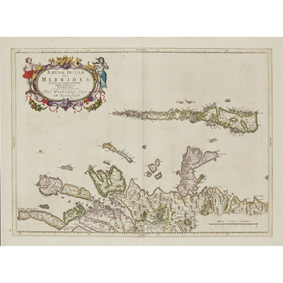 Lot 21 - 6 framed maps and 1 volume