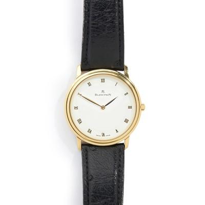 Lot 136 - Blancpain: a Villeret wrist watch
