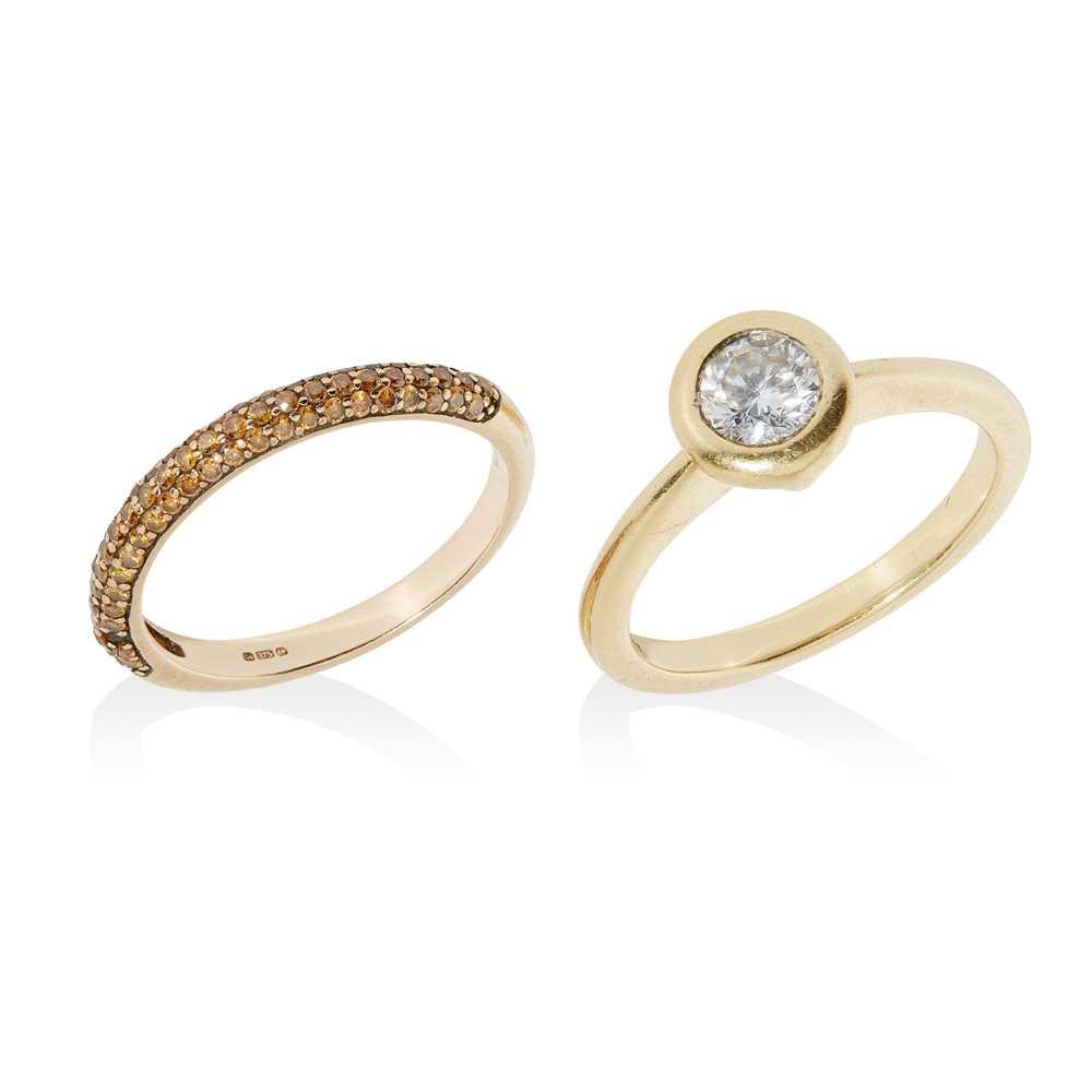 Lot 41 - A single stone diamond ring
