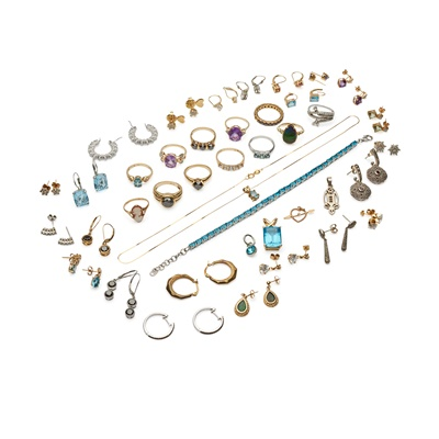 Lot 173 - A collection of gem-set jewellery