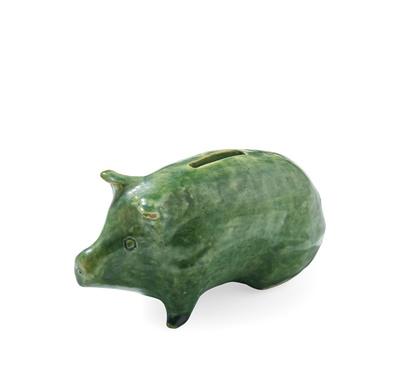 Lot 40 - A SMALL SCOTTISH POTTERY MONEY BANK PIG