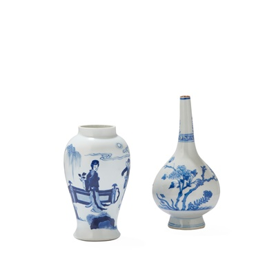 Lot 156 - TWO BLUE AND WHITE VASES
