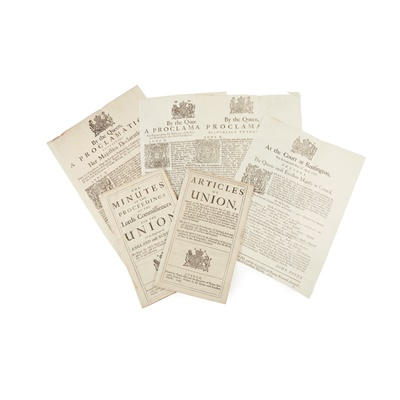 Lot 61 - Proclamations regarding Act of Union & others, 4 Broadsides