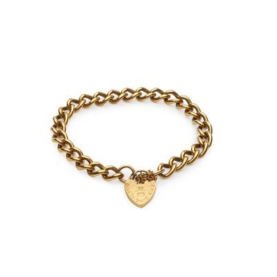 Lot 123 - A 9ct gold curb link bracelet