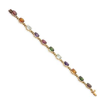 Lot 33 - A multi-gem bracelet