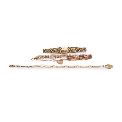 Lot 130 - A collection of bracelets