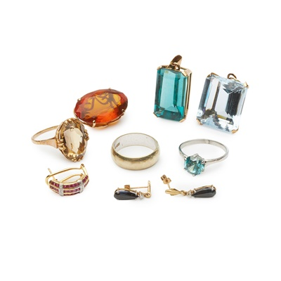 Lot 188 - A collection of gem-set jewellery