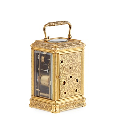 Lot 523 - FRENCH REPEATER CARRIAGE CLOCK WITH ALARM AND CALENDAR