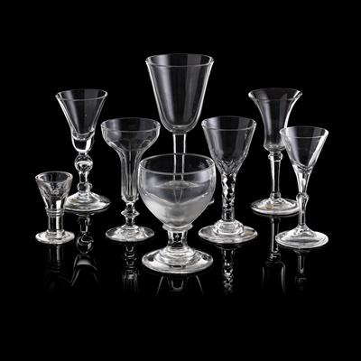 Lot 39 - EIGHT VARIOUS GEORGIAN GLASSES