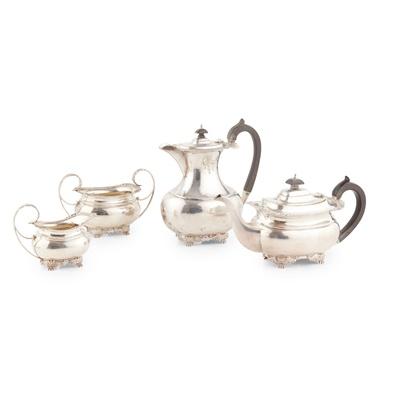 Lot 385 - A 1920s four-piece tea service