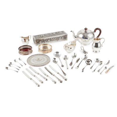 Lot 378 - A collection of miscellaneous silver