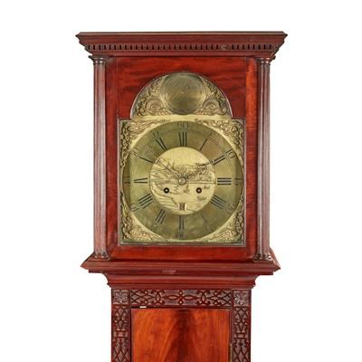 Lot 11 - A SCOTTISH GEORGE III MAHOGANY LONGCASE CLOCK, BY JOHN BARR, PORT GLASGOW