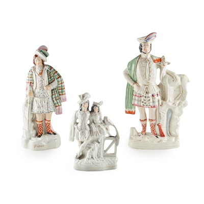 Lot 5 - A GROUP OF SCOTTISH SUBJECT STAFFORDSHIRE FIGURES