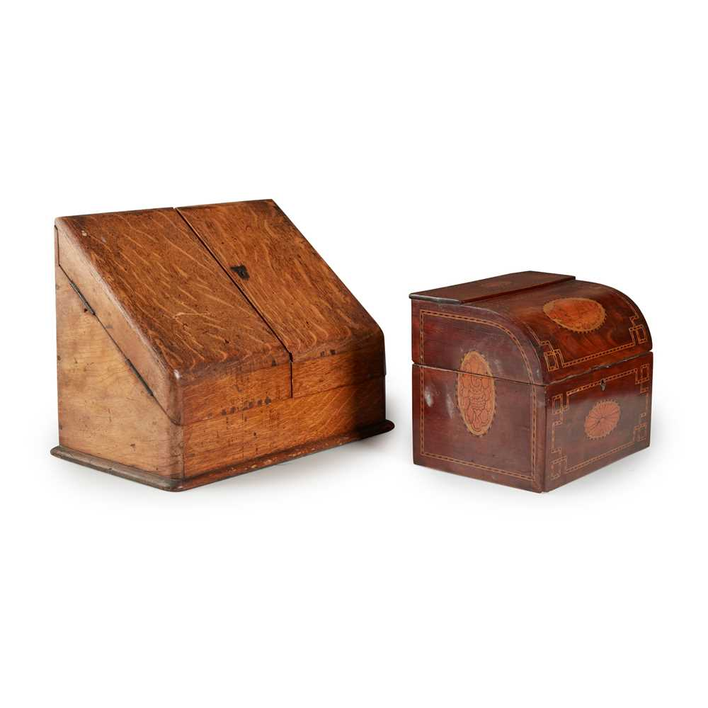 Lot 70 - TWO VICTORIAN STATIONERY BOXES