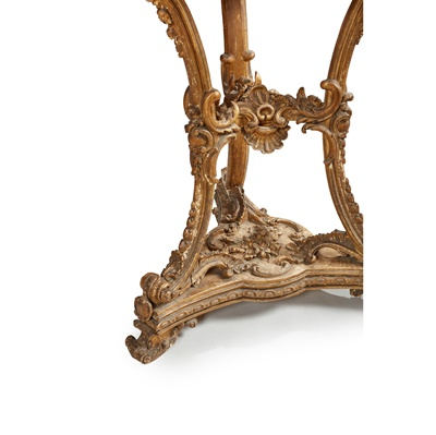 Lot 48 - A CONTINENTAL GILTWOOD AND BOULLE MARQUETRY GUERIDON
