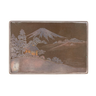 Lot 356 - A Japanese table box and cover