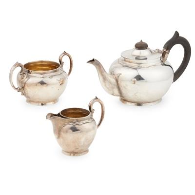 Lot 396 - A 1920s three-piece tea service