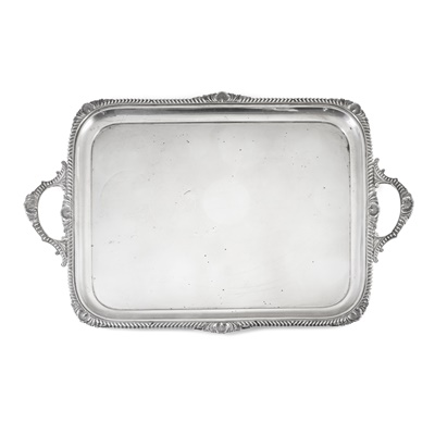 Lot 391 - A 1920s twin-handled tray
