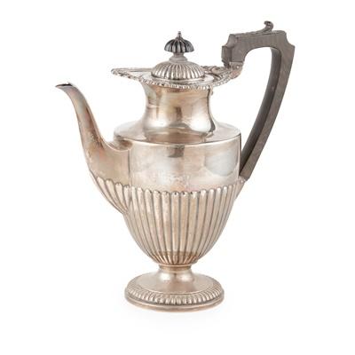 Lot 402 - An Edwardian Regency-style coffee pot